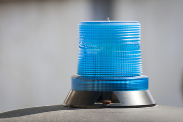 Police blue beacon light