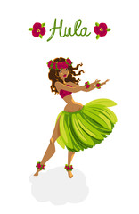 Beautiful girl - hula dancer