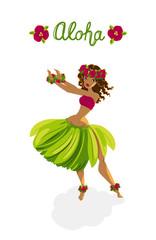 Beautiful girl - hula dancer