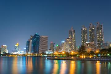 Blue night city