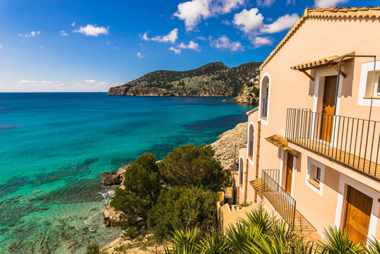 Beautiful mediterranean bay with sea view