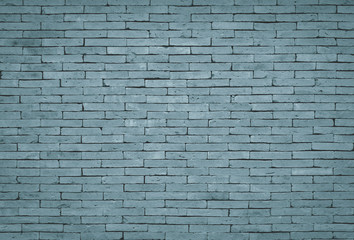 Vintage blue tone brick wall background