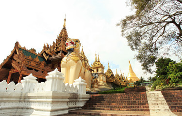 Entrance side of Shwedagon pagoda