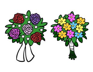 Blumenstrauß für Hochzeit oder Geburtstag