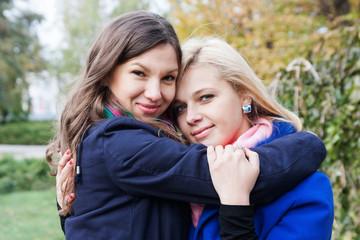 girlfriends hug