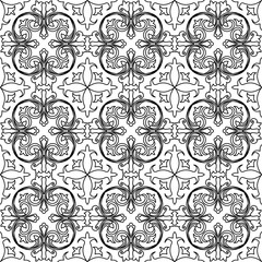 Vector seamless pattern background in black and white.