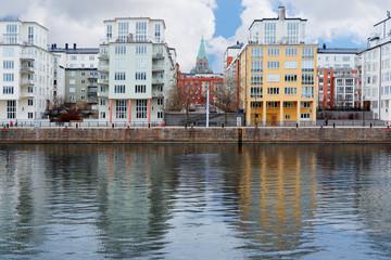 Stockholm, Sweden - March, 16, 2016: landscape with the image of Stockholm, Sweden
