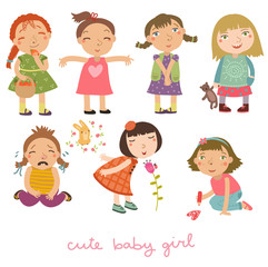 Girls vector set