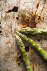 Presentation Raw asparagus