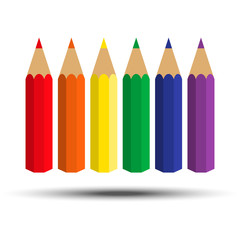 set of pencils of various color.