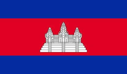 Cambodia Flag Fototapete