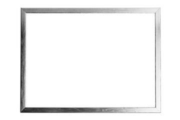 silver metallic frame with copy-space, isolated on white