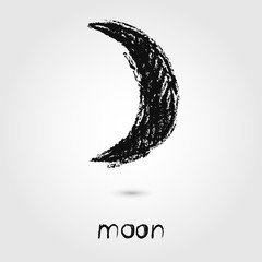 Vector Sketch  Moonicons on the white background