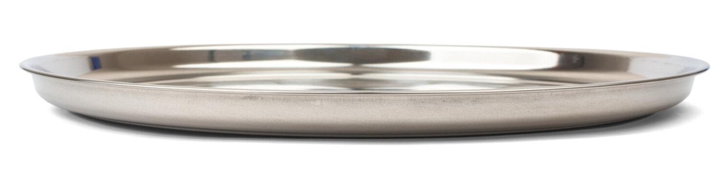 Round steel tray