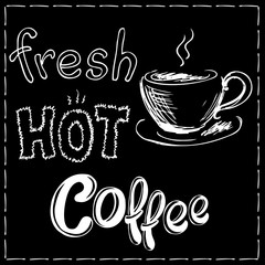 Fresh and hot coffee background