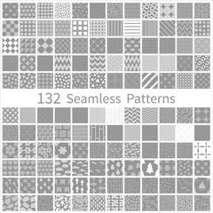 Printed roller blinds Pattern set of semless patterns
