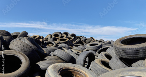 Used tires collection for recycling disposal industry