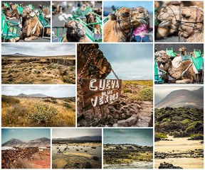 picturesque views and sights of Lanzarote in Canary islands
