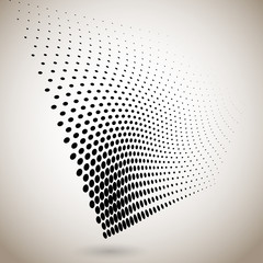 Abstract halftone dots