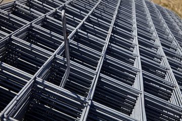 Steel Concrete Reinforcing Wire Closeup