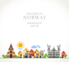 Welcome to Norway background panorama