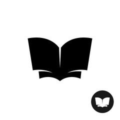 Book open simple black silhouette icon