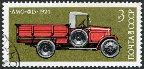 USSR - 1973: shows AMO-F15 truck, 1924