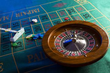 tavolo da roulette durante il gioco