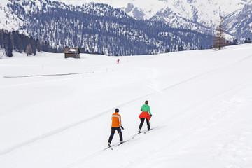 Cross-country skiing langlauf