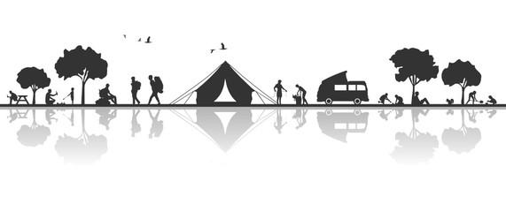 Zelten und Wandern in der Natur