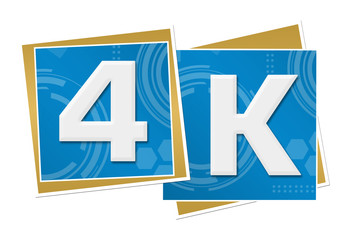 4K Blue Technical Squares