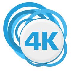 4K Blue Random Rings