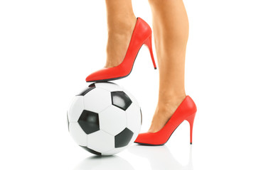 Red heels and football