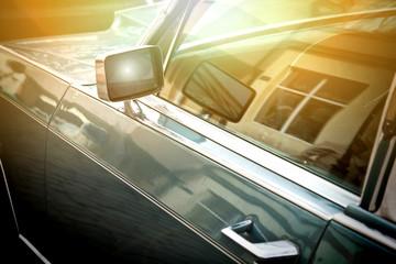 Car side mirror.