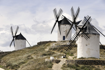 Don Quixote windmills at Consuegra Spain