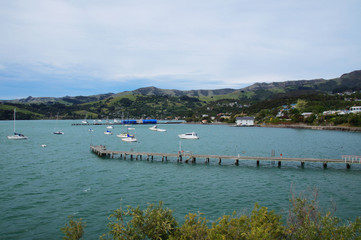 Banks Peninsula in the Canterbury , New Zealand