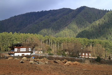 Countryside houses, Bhutan