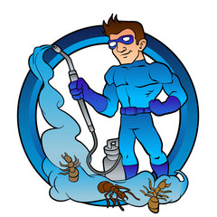 Pest Control superhero.