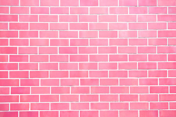 Pink new brick wall perfectly background. Best clean brick wall. Sweet and cute. Close up. Front view.