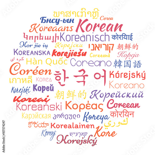 Learn Korean  Korean language translated into languages of the world