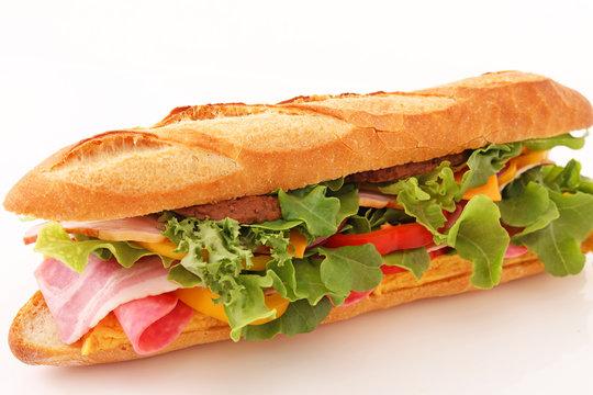 おいしそうなサブマリンサンドイッチ