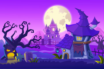 Creative Illustration and Innovative Art: Ghost Town. Realistic Fantastic Cartoon Style Artwork Scene, Wallpaper, Story Background, Card Design
