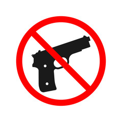 No Guns or Weapons Sign.