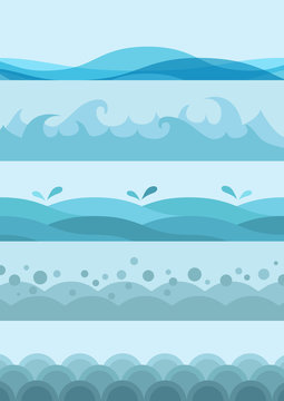 Illustration vector of water waves