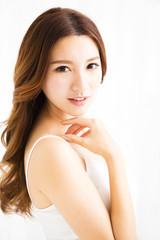 closeup beautiful young asian  woman