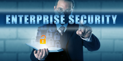 Business Director Pressing ENTERPRISE SECURITY