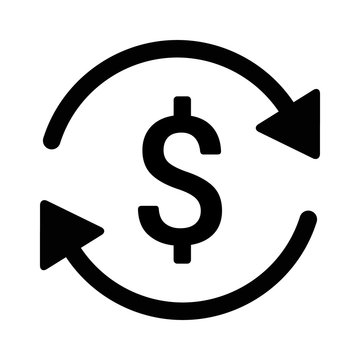 Automatic recurring payments or billing cycle line art icon for apps and websites