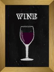 Wine List on a Chalkboard 1