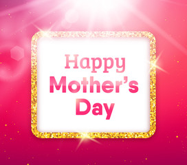 Happy Mothers Day typography greeting card