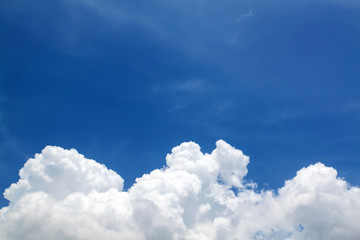 cloud on blue natural background